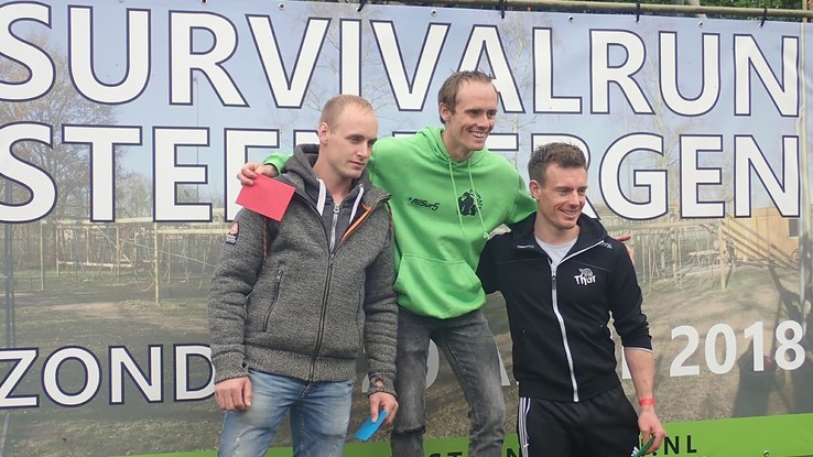 Thoriaan Job Wille 3e in Survivalrun Steenbergen - Foto: Eigen foto