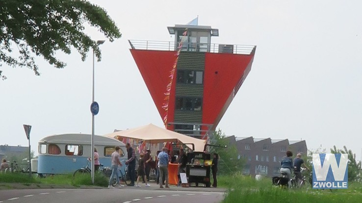 Kunsteducatief project Mankato in en rond Twistvliettoren geopend - Foto: Jan la Faille