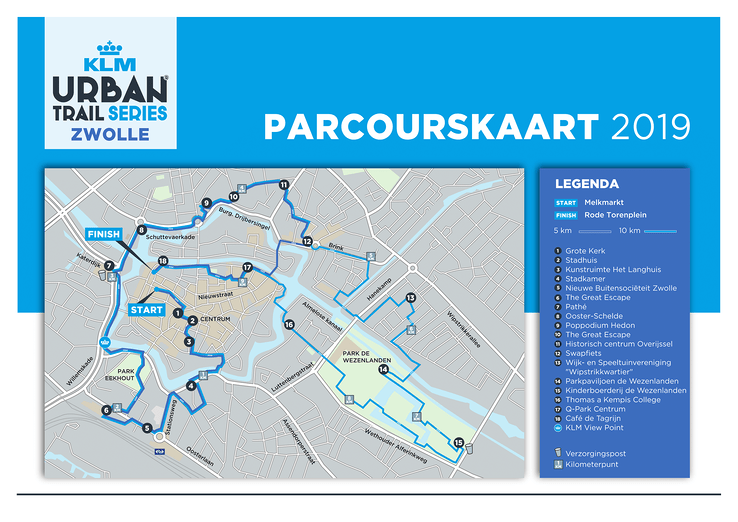 Parcours KLM Urban Trail Zwolle bekend