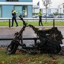Scooter spontaan in brand aan de Obrechtstraat
